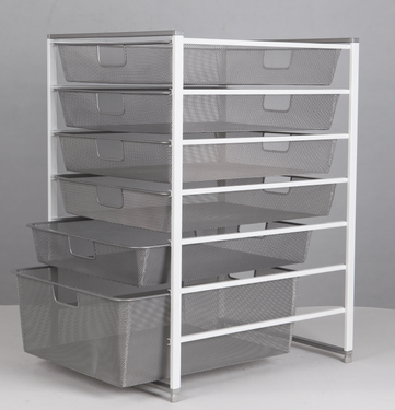 450wide Seven tiered Six drawer cart